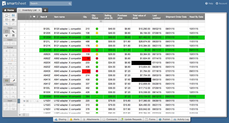conditional formatting colors and symbols smartsheet