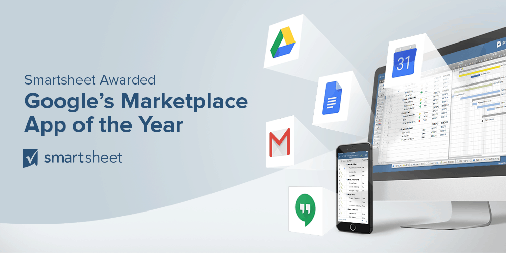 smartsheet named google for work s marketplace app of the year