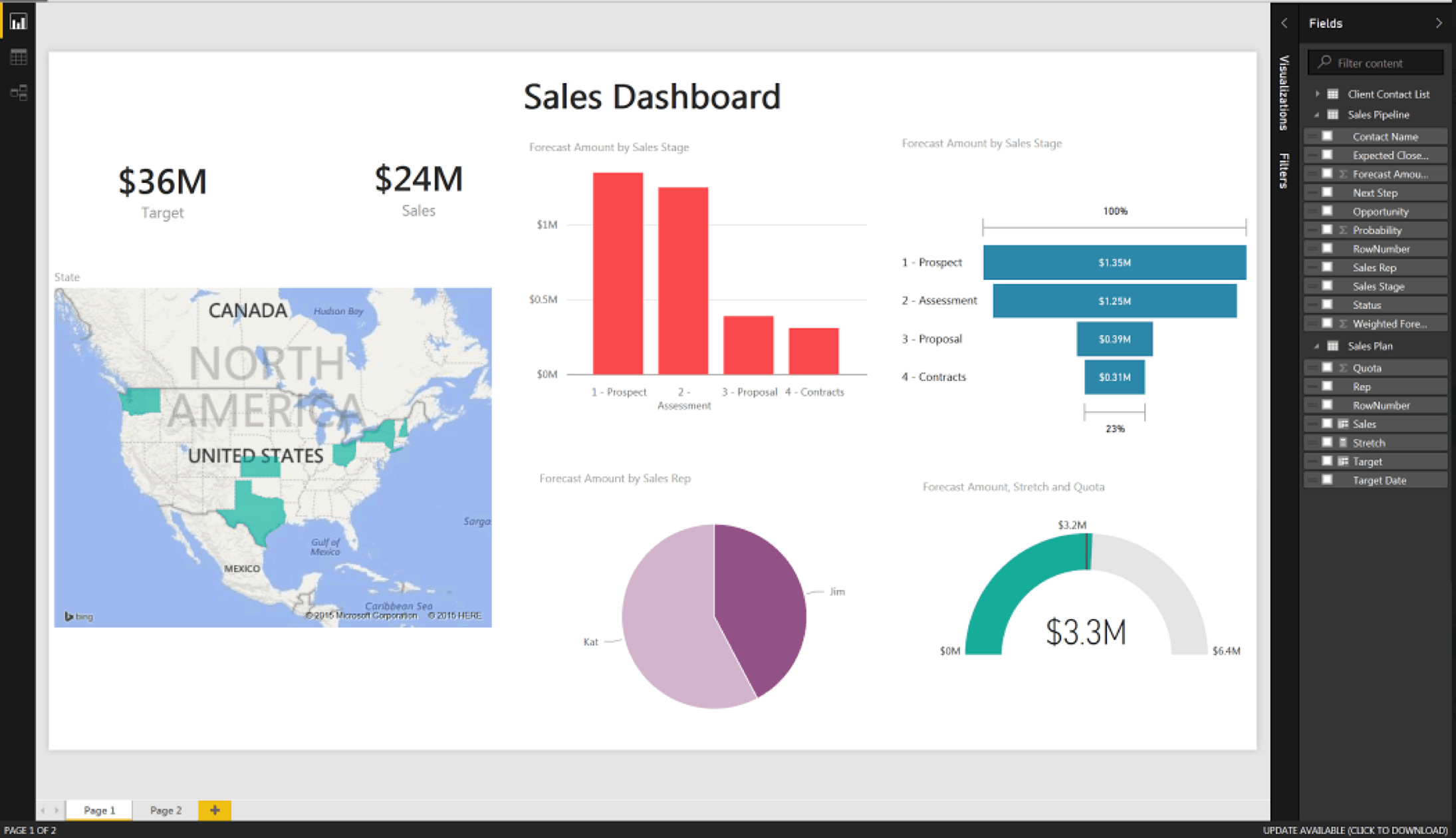 Create reports and data visualizations with the data connector.