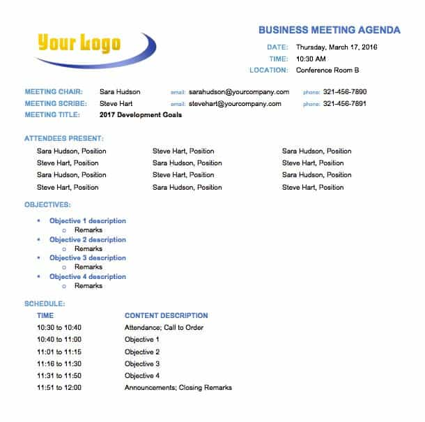 Free meeting agenda templates smartsheet tempmeetingagendabusiness0g this business meeting agenda template accmission Choice Image