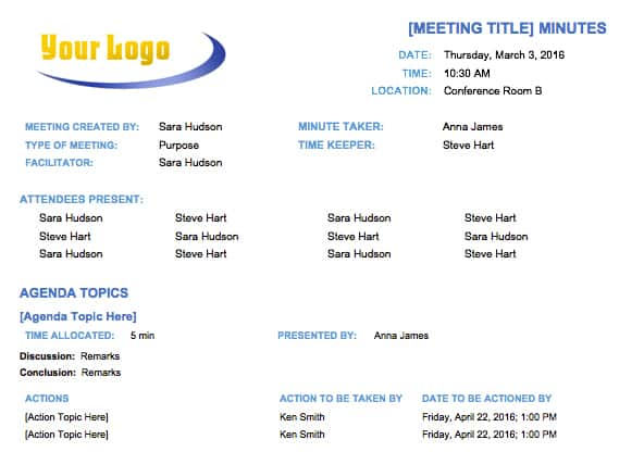 Free meeting minutes template for microsoft word basic meeting minutes template maxwellsz