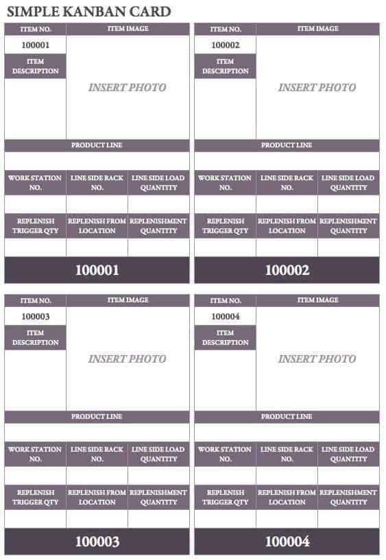 Free Kanban Card Templates Smartsheet