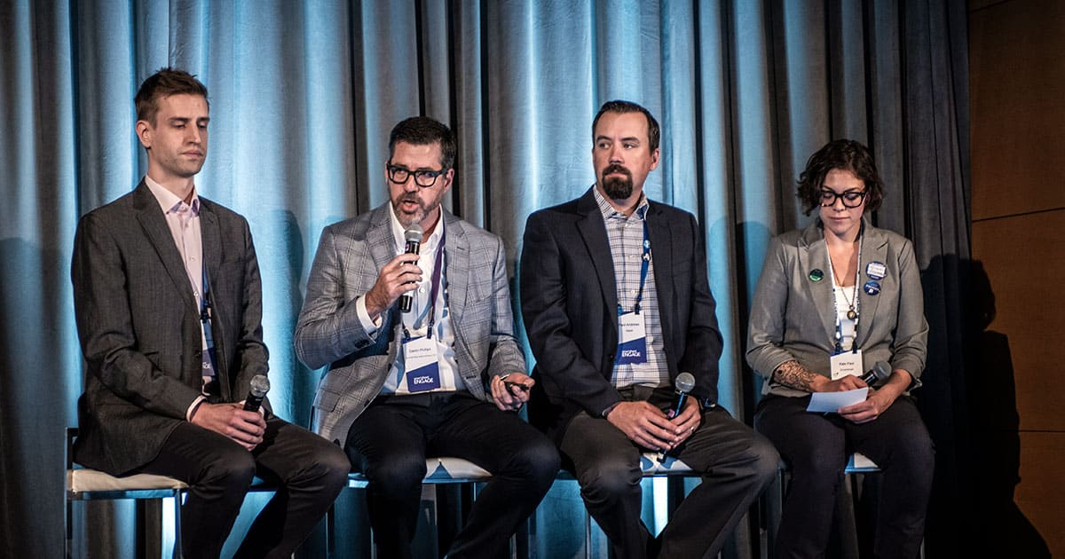 Smartsheet ENGAGE'18 customer panel for the construction industry