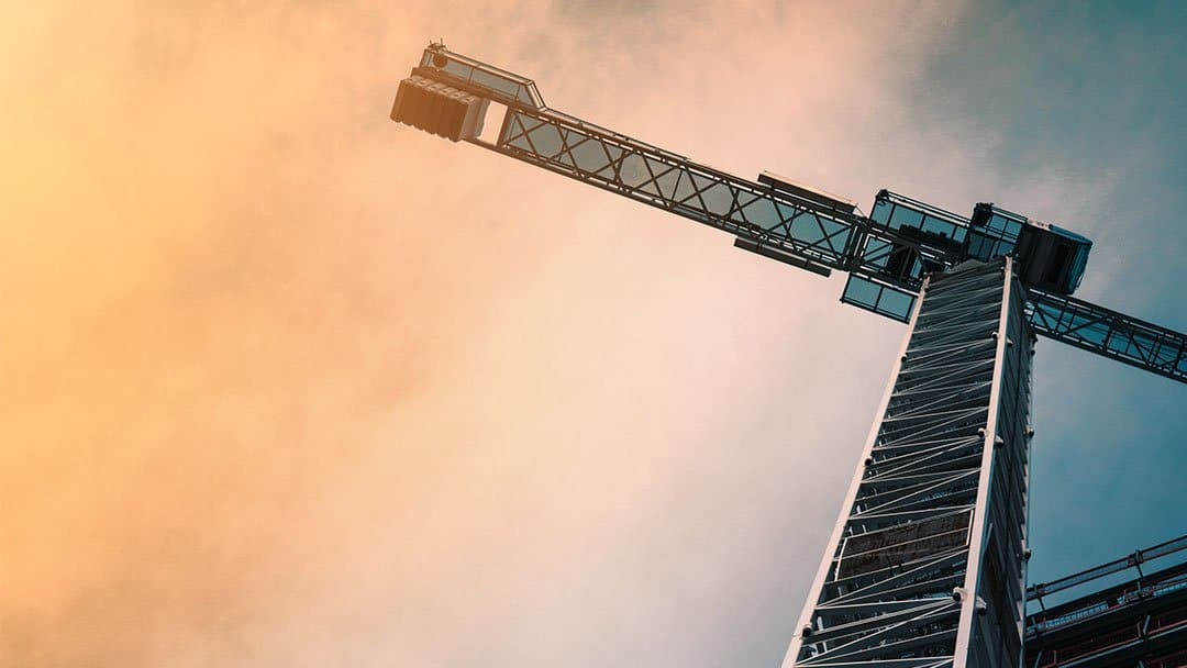 A crane at a construction site