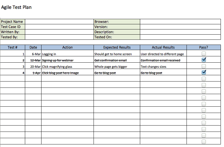 Free agile project management templates in excel agile test plan template maxwellsz