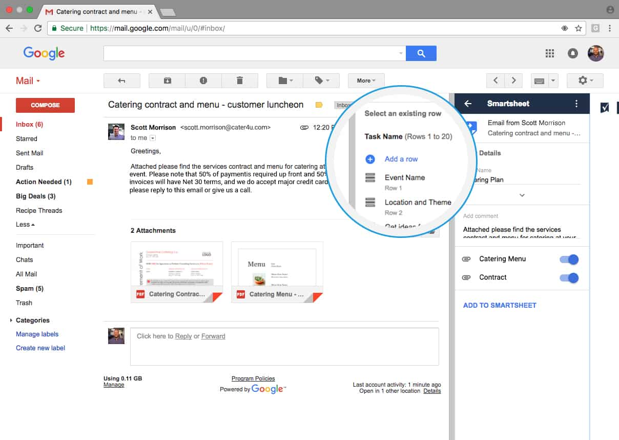 Gmail add-on