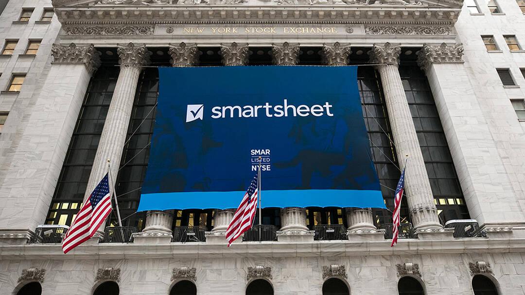 Smartsheet banner at NYSE