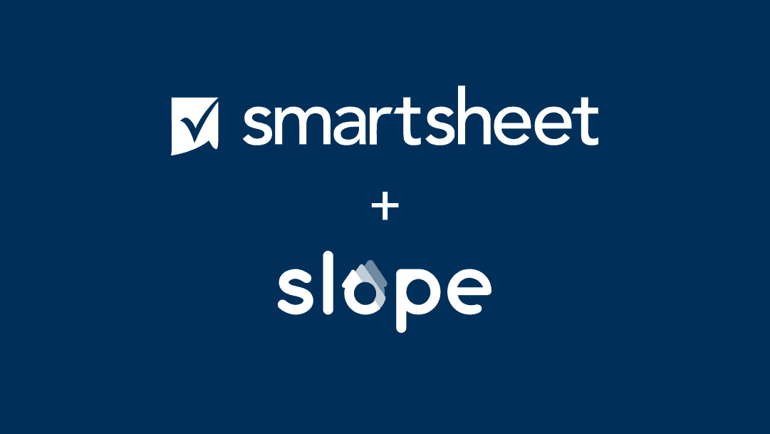 Smartsheet and Slope logos