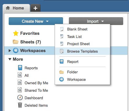Project timeline with Smartsheet