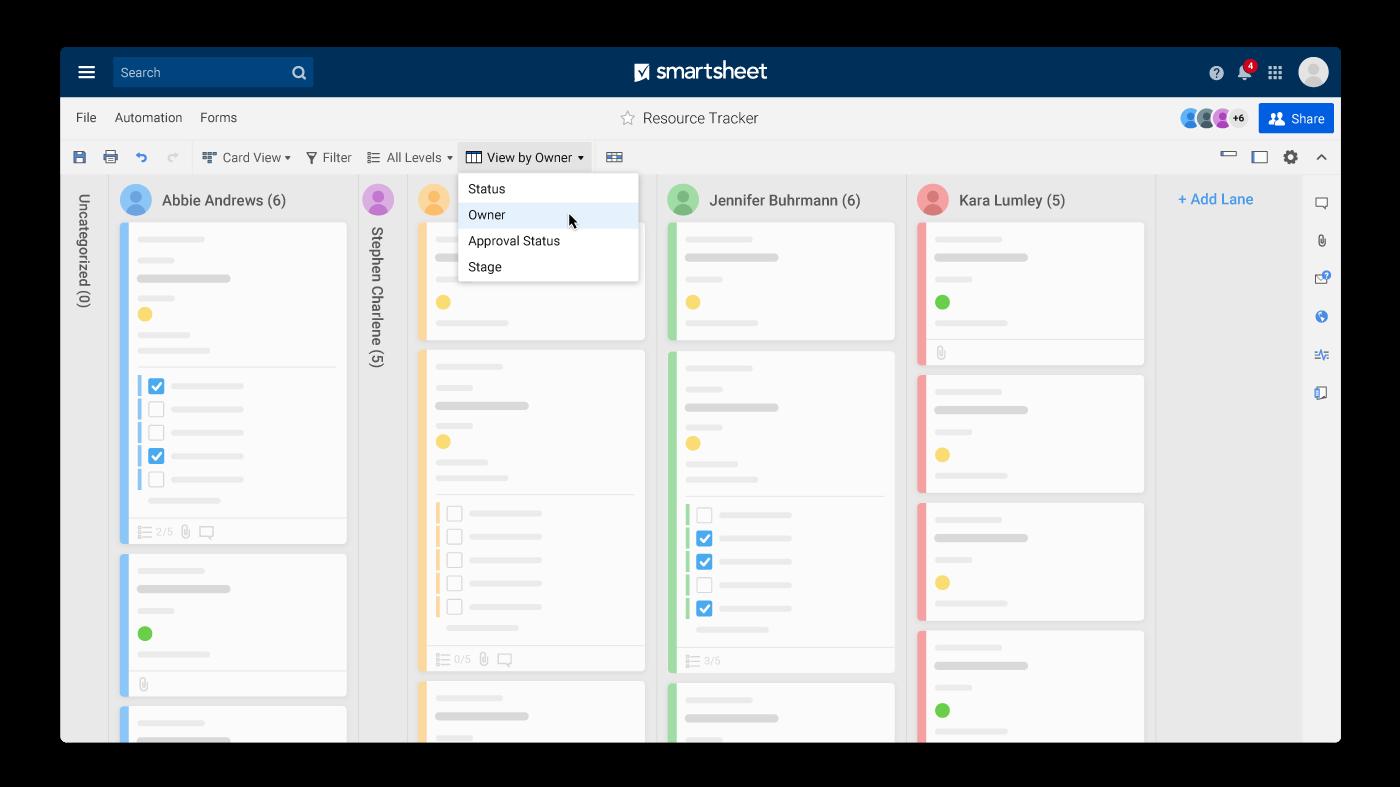online kanban boards  smartsheet