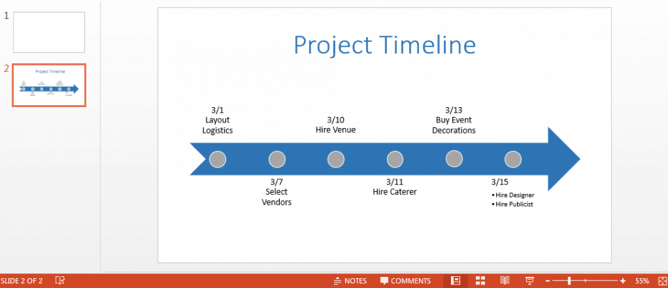 Free powerpoint timeline template colored timeline in powerpoint toneelgroepblik Choice Image