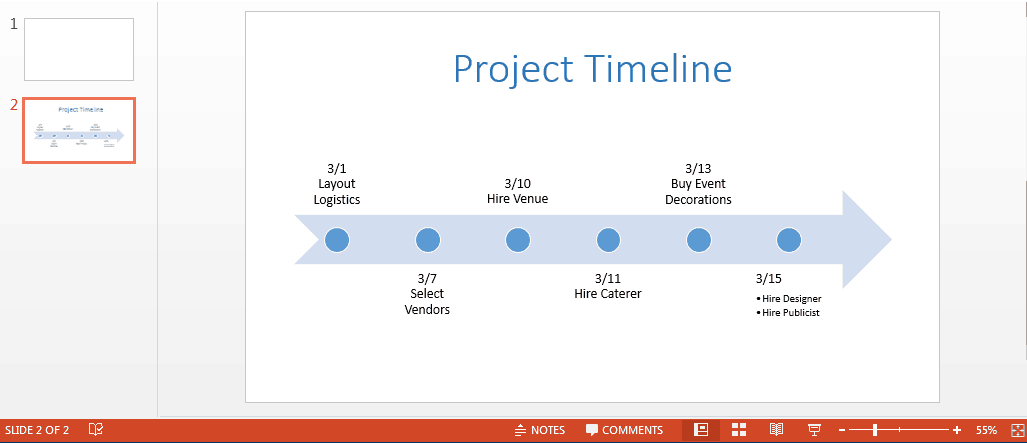 title for powerpoint timeline