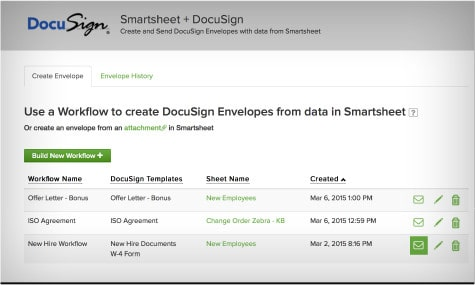 Docusign and Smartsheet | Smartsheet
