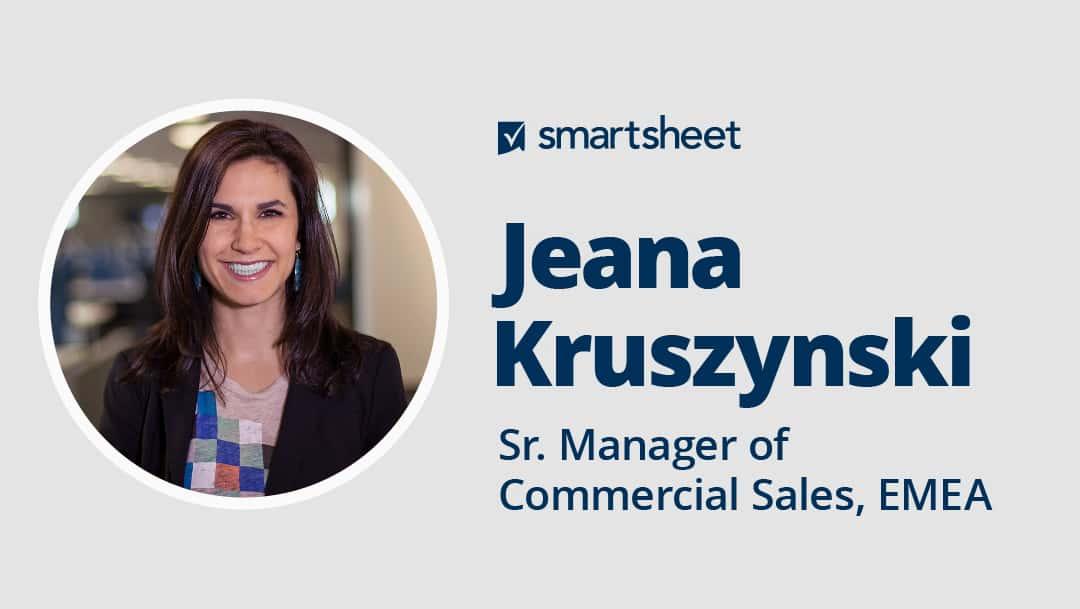 Jeana Kruszynski, Sr. Manager of Commercial Sales, EMEA