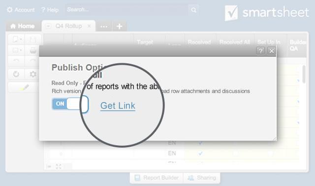 Share reports Smartsheet