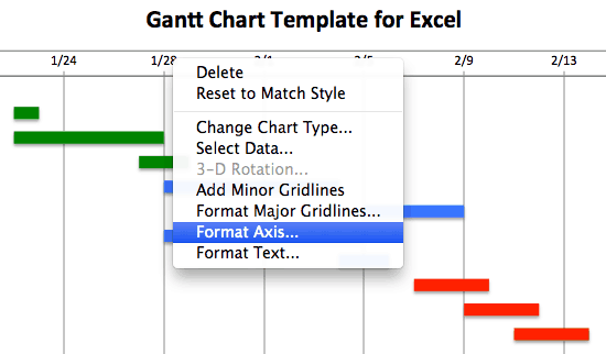 excel apply chart template