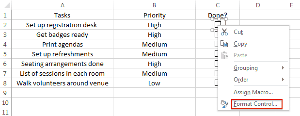 to do list template in excel