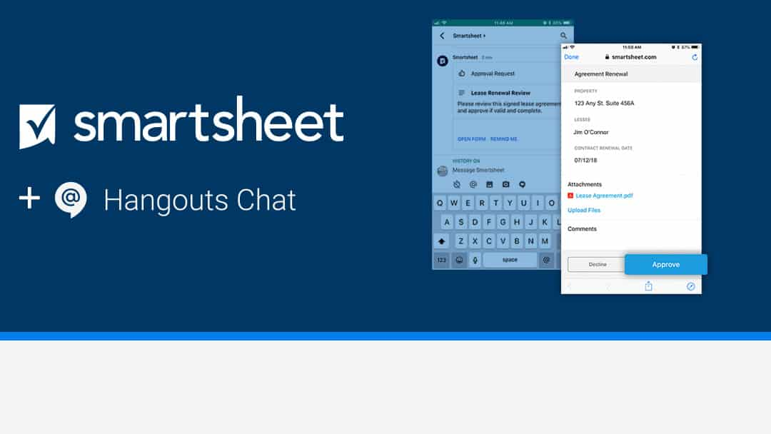 Get More Done With Smartsheet And Googles Hangouts Chat Smartsheet