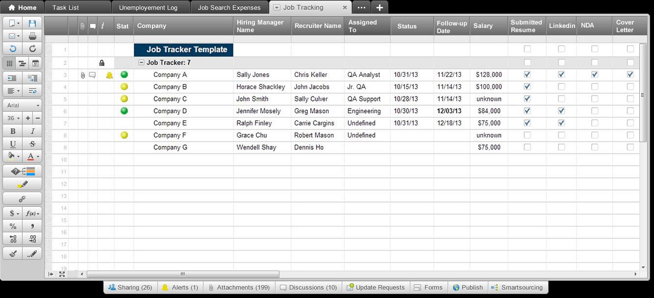 Job List Template