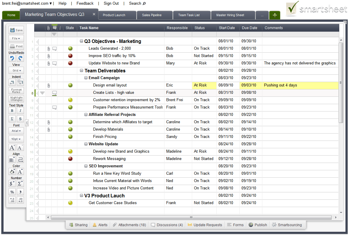 New Version of Smartsheet