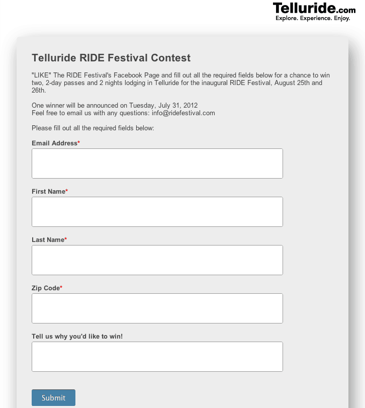 contest entry form template word