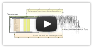 video about crowdsourcing with Smartsheet