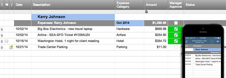 Expense Report Template Smartsheet