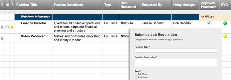 headcount requisition template  Internal Job Requisition Form | Smartsheet
