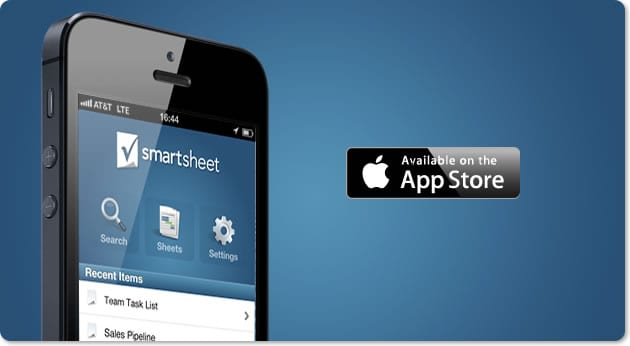 Go mobile with Smartsheet on your iPhone.