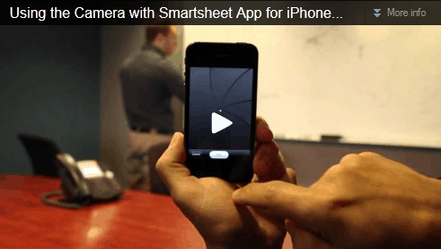 Smartsheet iOS iPhone Video
