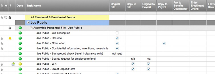 new hire checklist template smartsheet