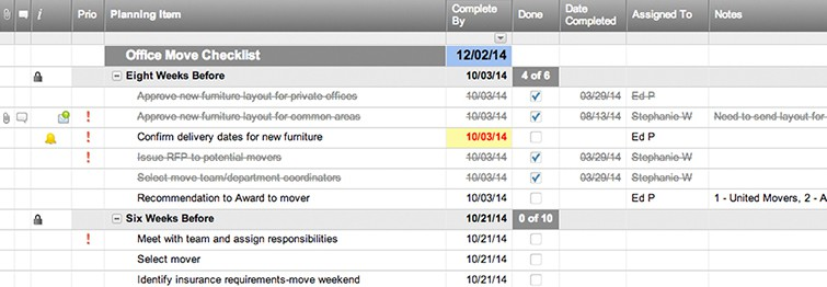 office move checklist template smartsheet