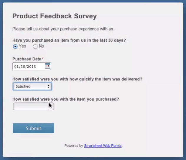 product survey template .