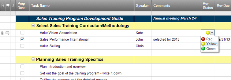 sales training development guide template smartsheet