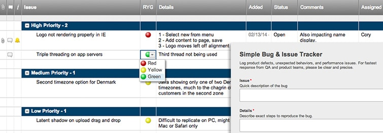 Simple Bug And Issue Tracker Form Smartsheet