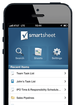 Smartsheet iPhone App