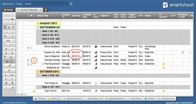 How to Create a Content Calendar | Smartsheet