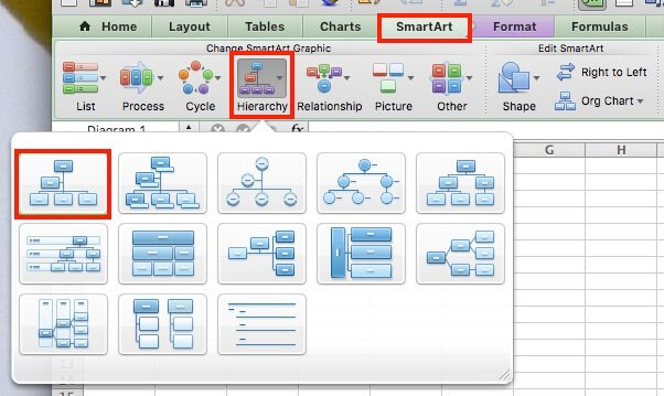 Easy Org Charts Excel Create Chart