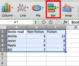 Excel Bar Charts Data Select Stacked Chart