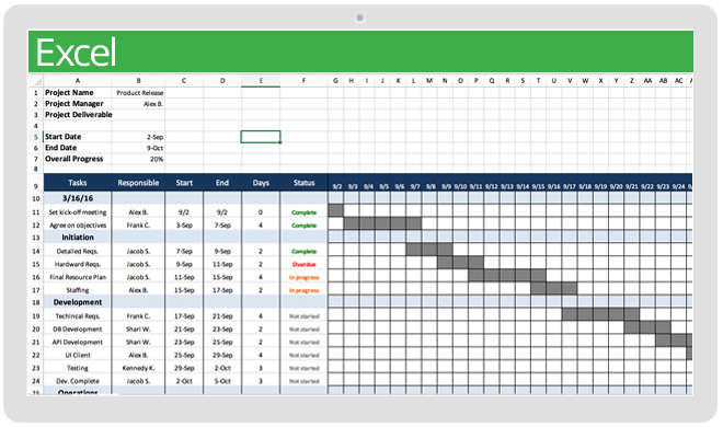 free project management calendar template excel