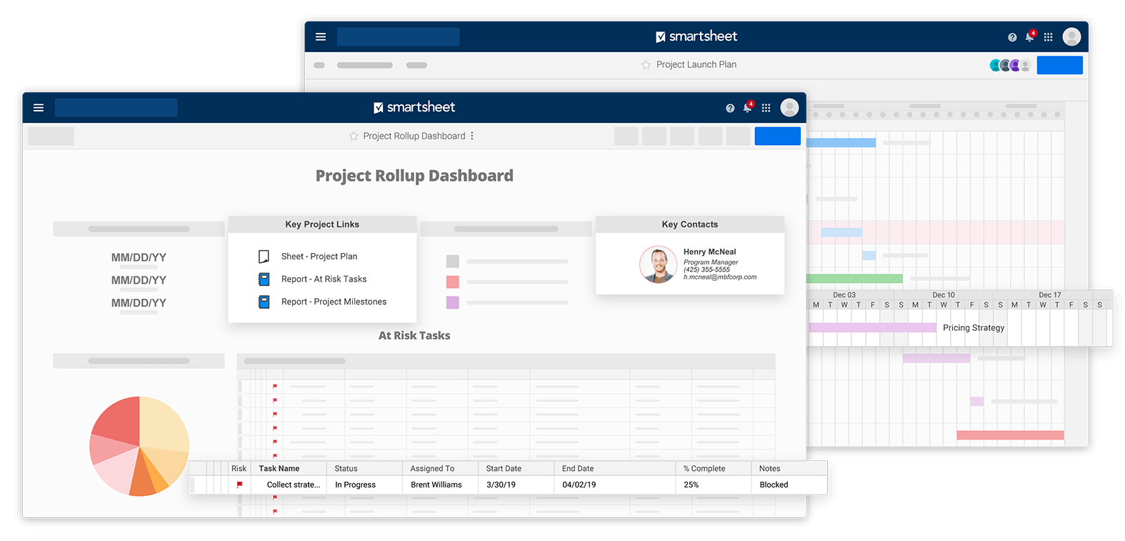 project rollup sheet dashboard