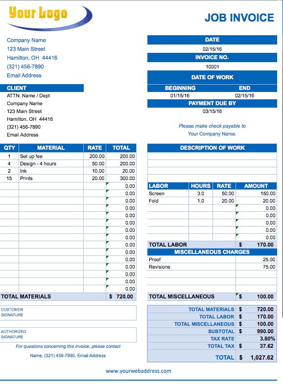 excel free invoice template  Free Excel Invoice Templates - Smartsheet
