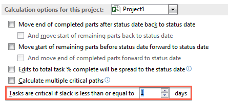 Critical path and MS Project