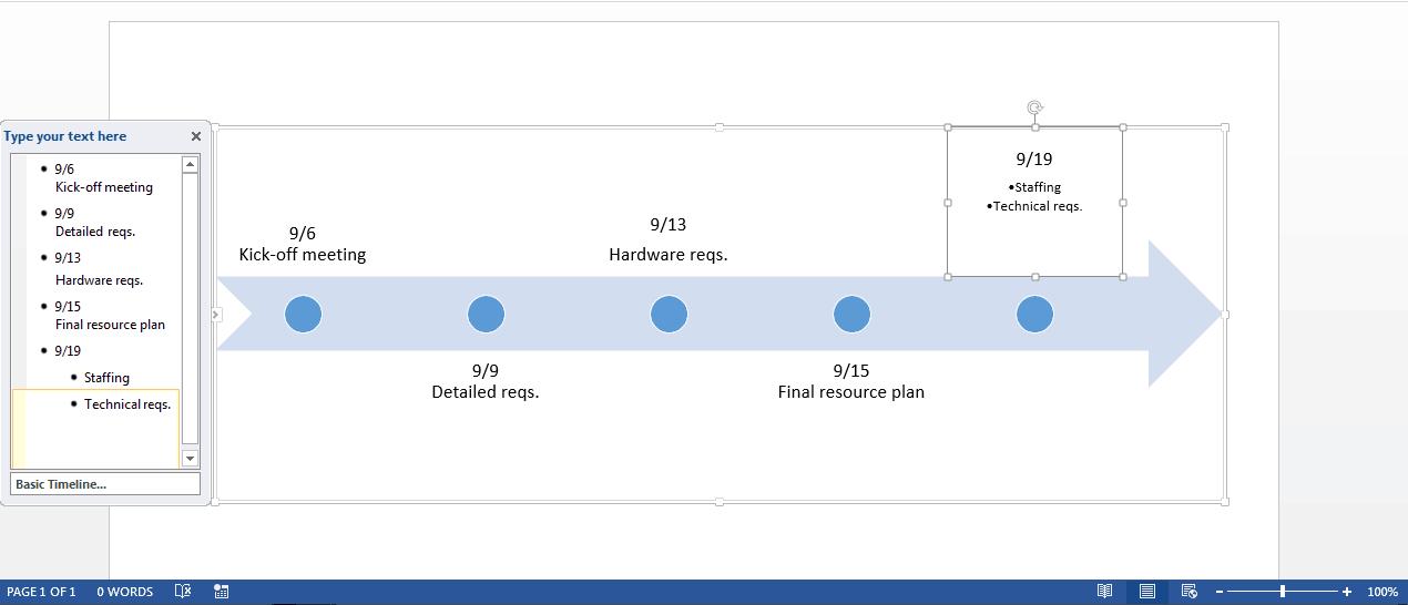 Create a Timeline in Microsoft Word | Smartsheet