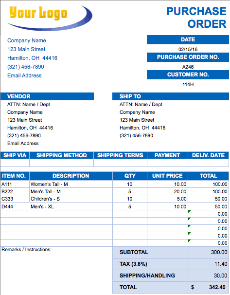 Free Excel Invoice Templates Smartsheet - Construction invoice form free for service business