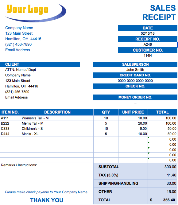 Free Excel Invoice Templates Smartsheet - Free sample invoice for service business