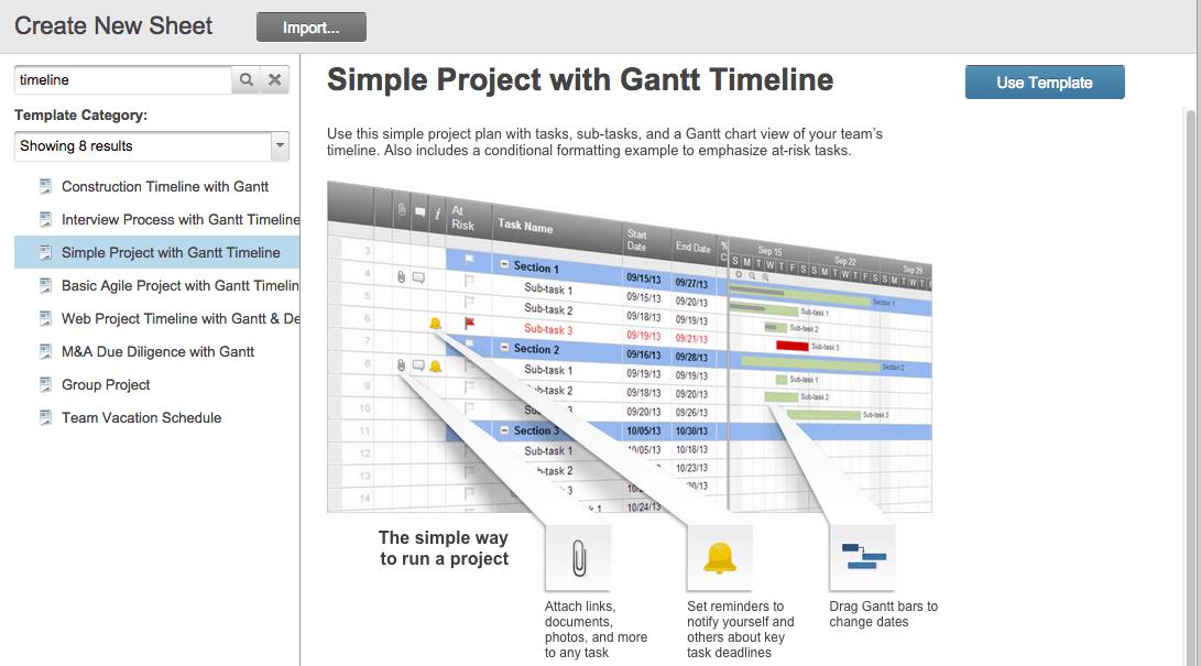 Gantt chart timeline template Smartsheet