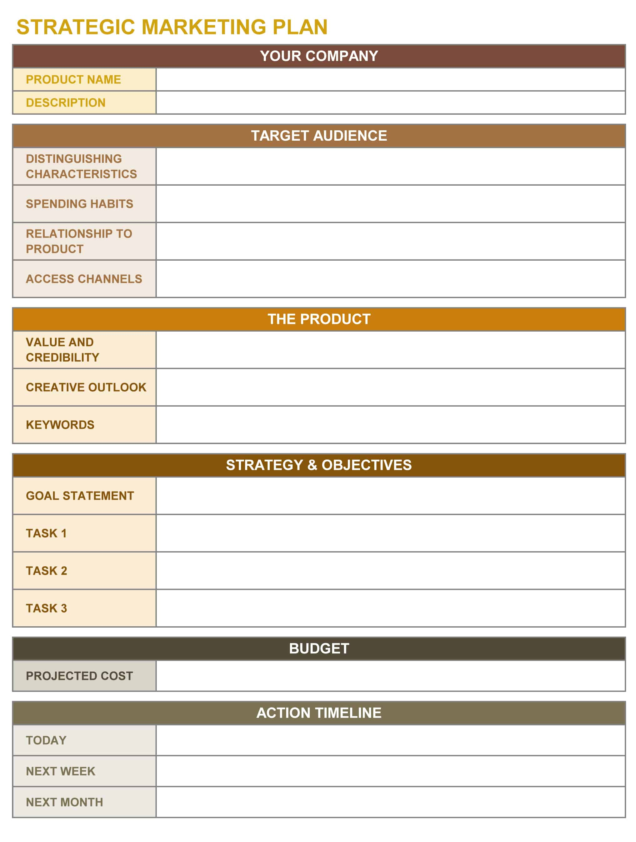 How To Create A Marketing Plan In Excel Best Market - Marketing plan timeline template excel