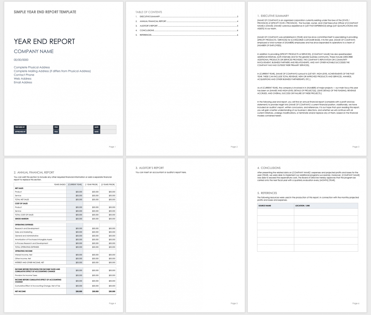 Free Year End Report Templates   Smartsheet