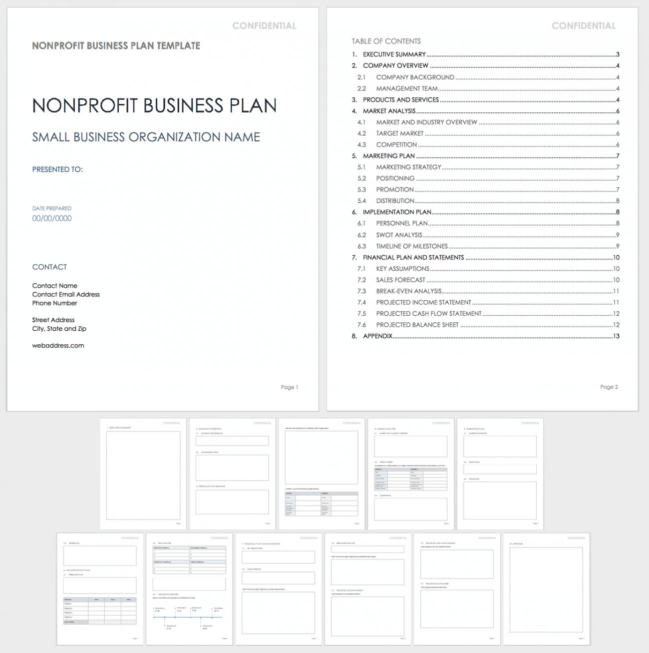 Nonprofit Business Plan Templates   Smartsheet